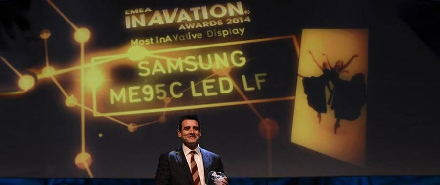 Samsung 95inch commercial display honored with InAVation Award