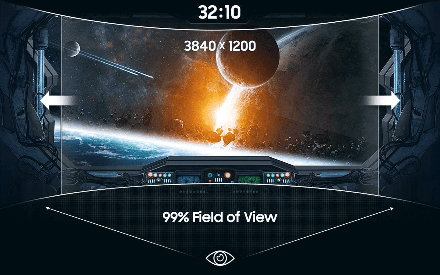32:10 Super Ultra- Wide Aspect Ratio for the Winning Advantage
