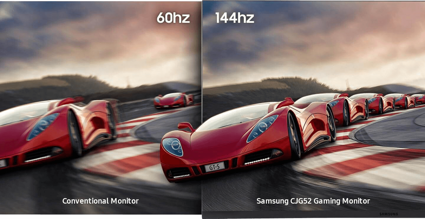Smoother gameplay with fast 144 Hz refresh rate.