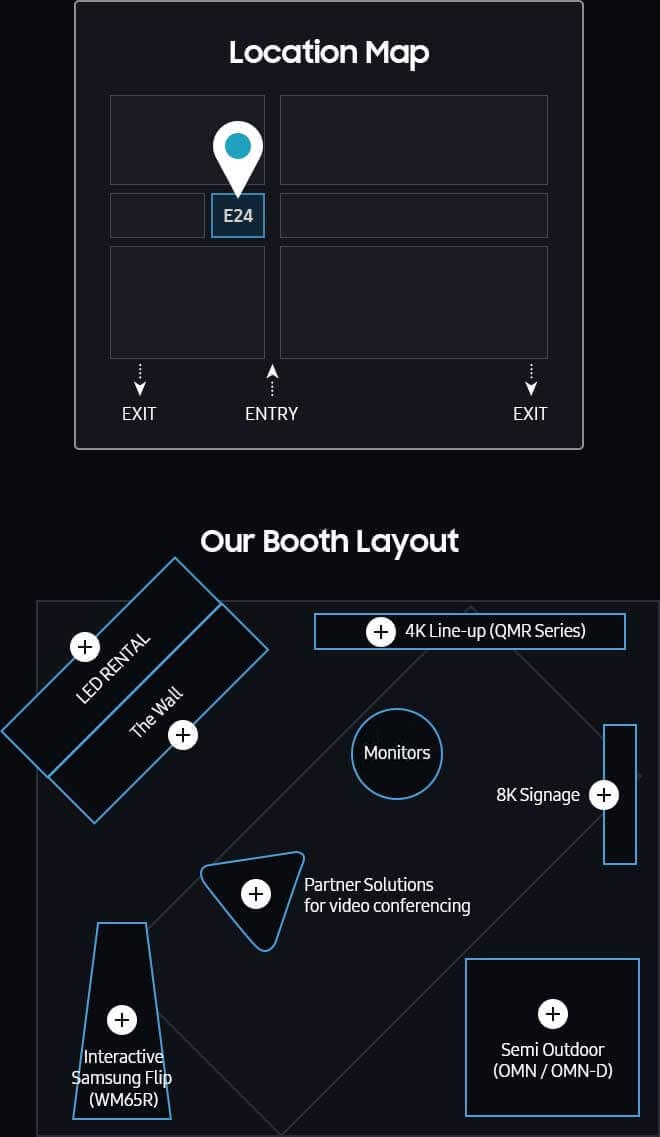 [Location Map] E24 / [Our Booth Layout]