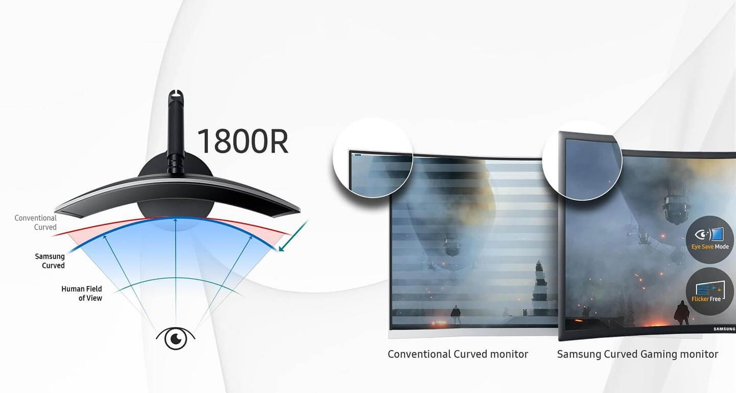 Deeper immersion, greater viewing comfort