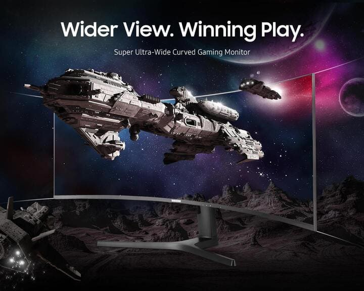 Wider View. Winning Play - Super Ultra-Wide Curved Gaming Monitor