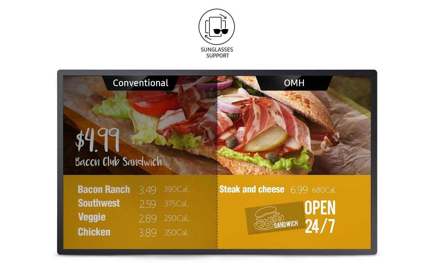 Om32h Smart Signage Samsung Display Solutions Bay Area Meat Csa In Transition Chicken Recipes Foster Brilliant Presentation For All