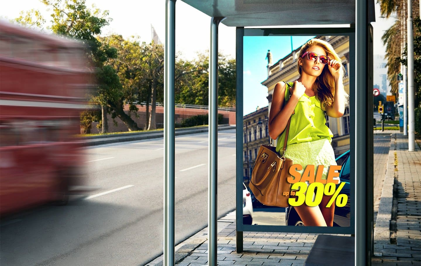 Large displays optimized for DOOH