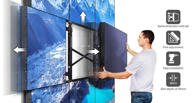 A Slim, Easily Configurable Wall Mount* Adaptive to your Business Needs