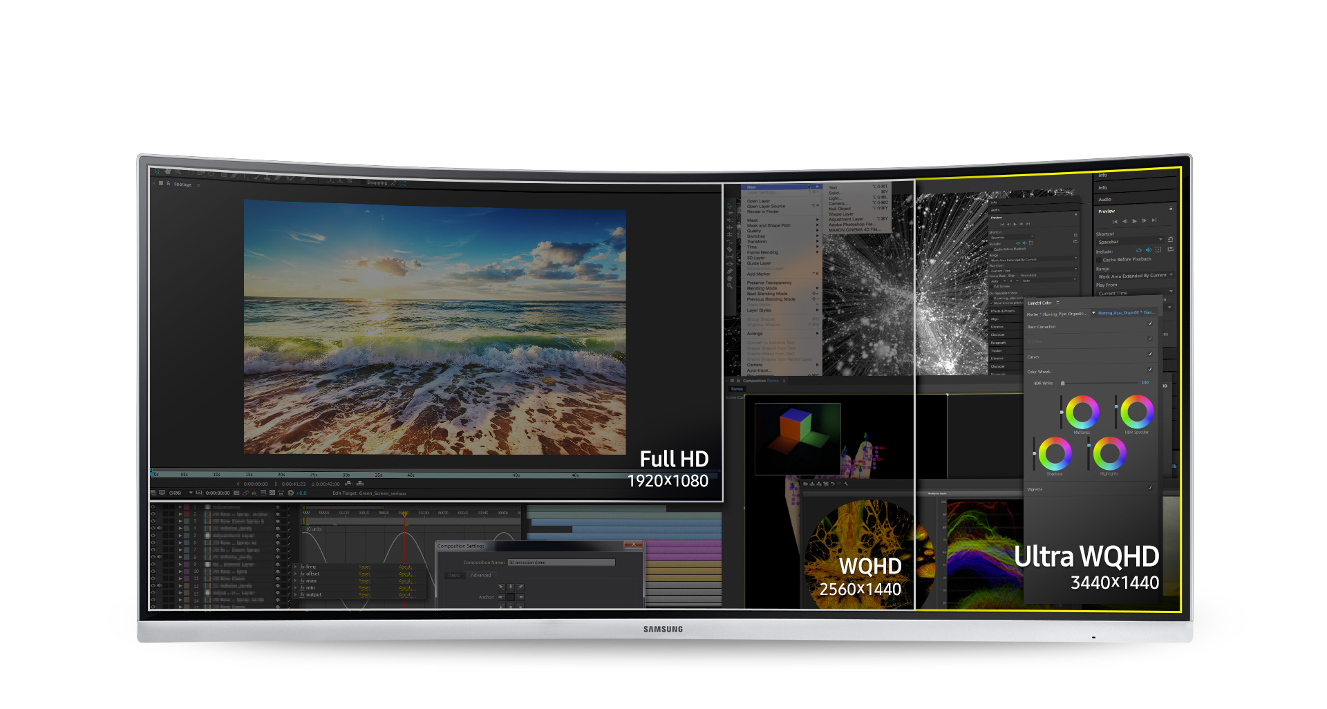 Ultra WQHD for incredible image detail and a wider workspace