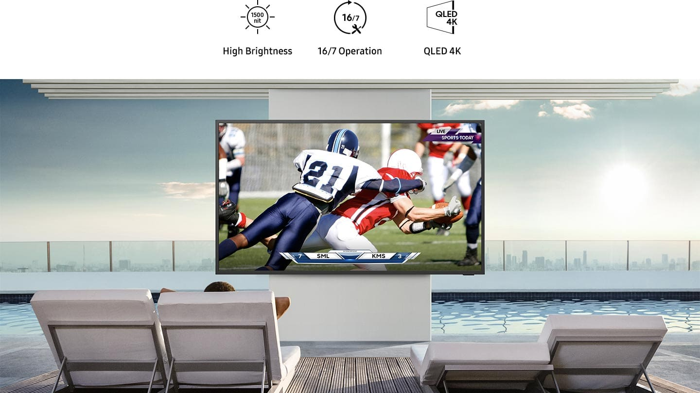 Bright and brilliant - 4K QLED outdoor TV image 1