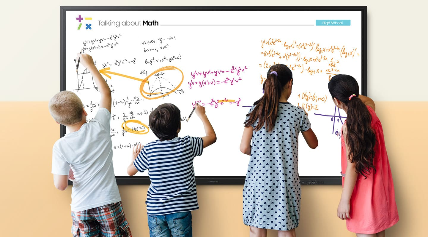 Multi writing for up to 10 on larger sized display