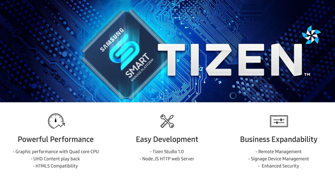 Enjoy Greater Operational Flexibility with the TIZEN OS