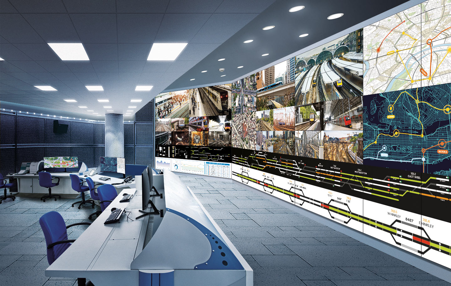 Seamless video walls with razor-thin bezels