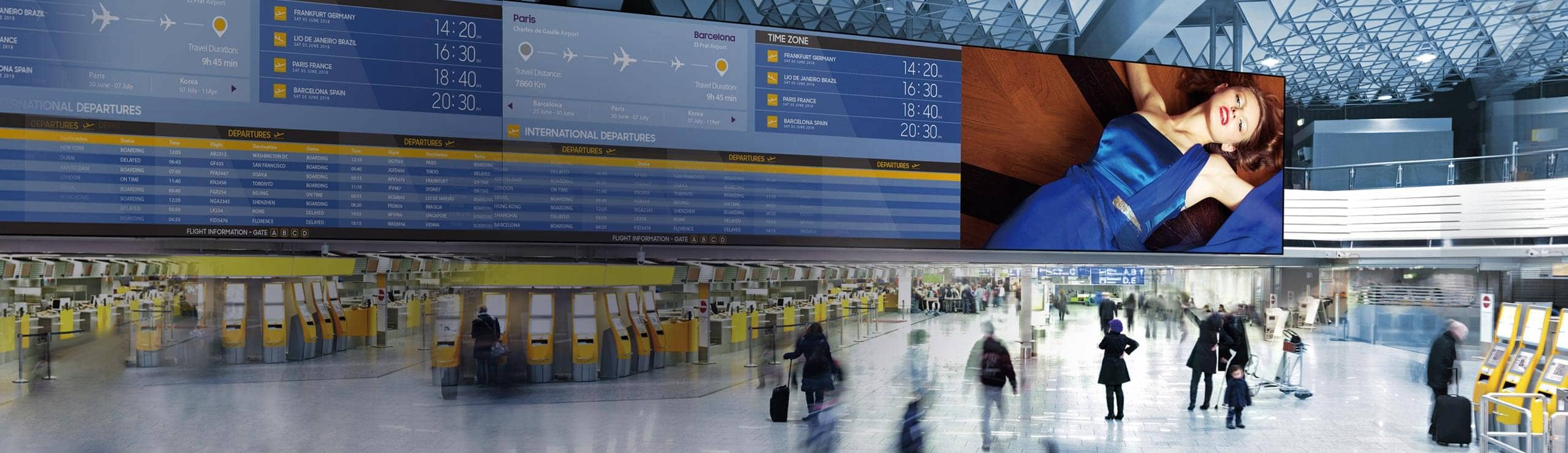 Samsung digital signage for airports