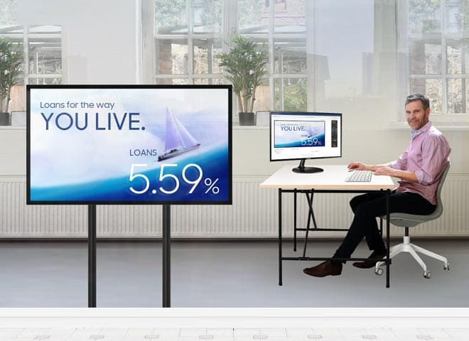 Samsung window display - digital window signage one-time investment, long term value