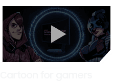 Video image titled by 'Cartoon for gamers