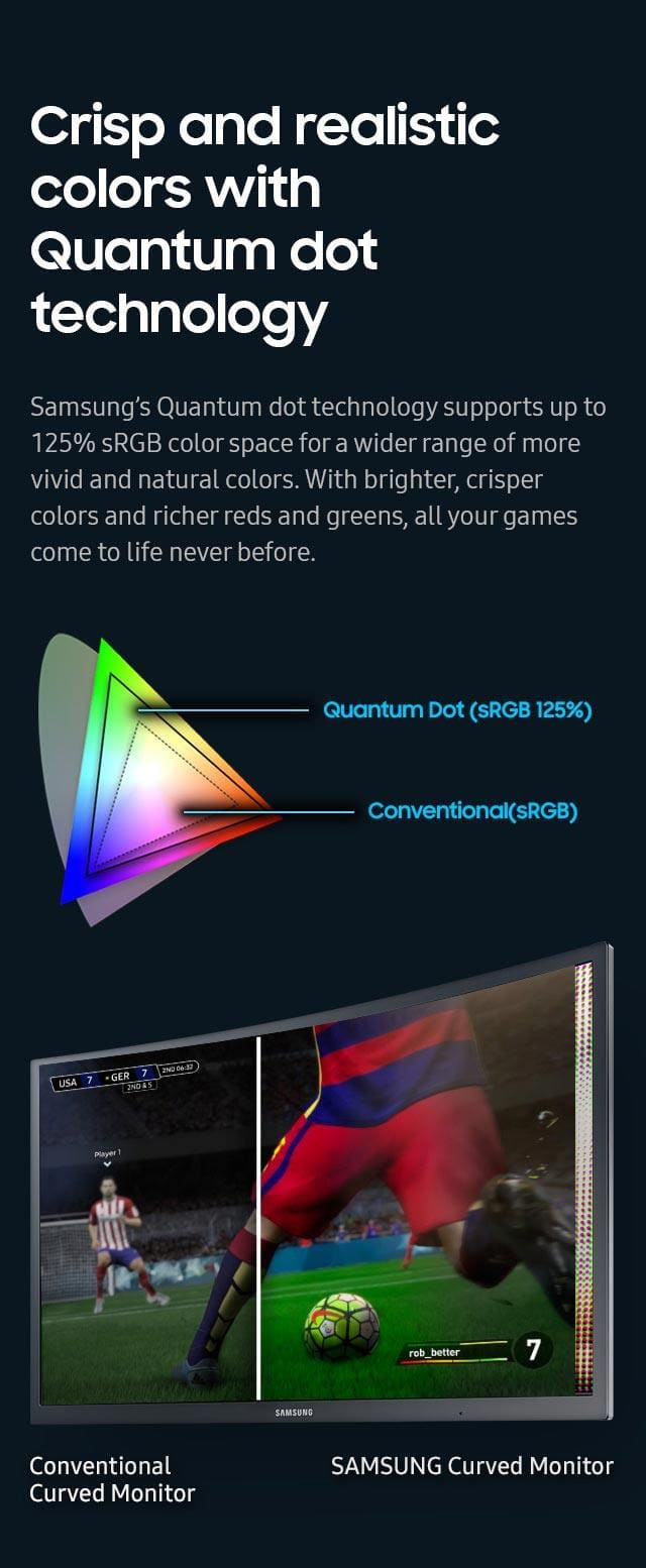 Crisp and realistic colors with Quantum dot technology