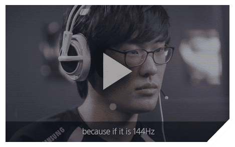 Video image of interview by Samsung GALAXY Team's pro-gamers
