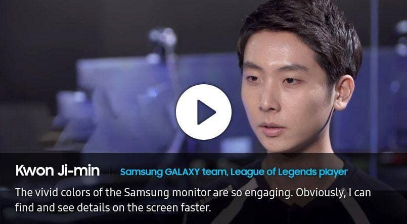 Image of interview by Kwon Ji-Min, Samsung GALAXY team, League of Legends player.