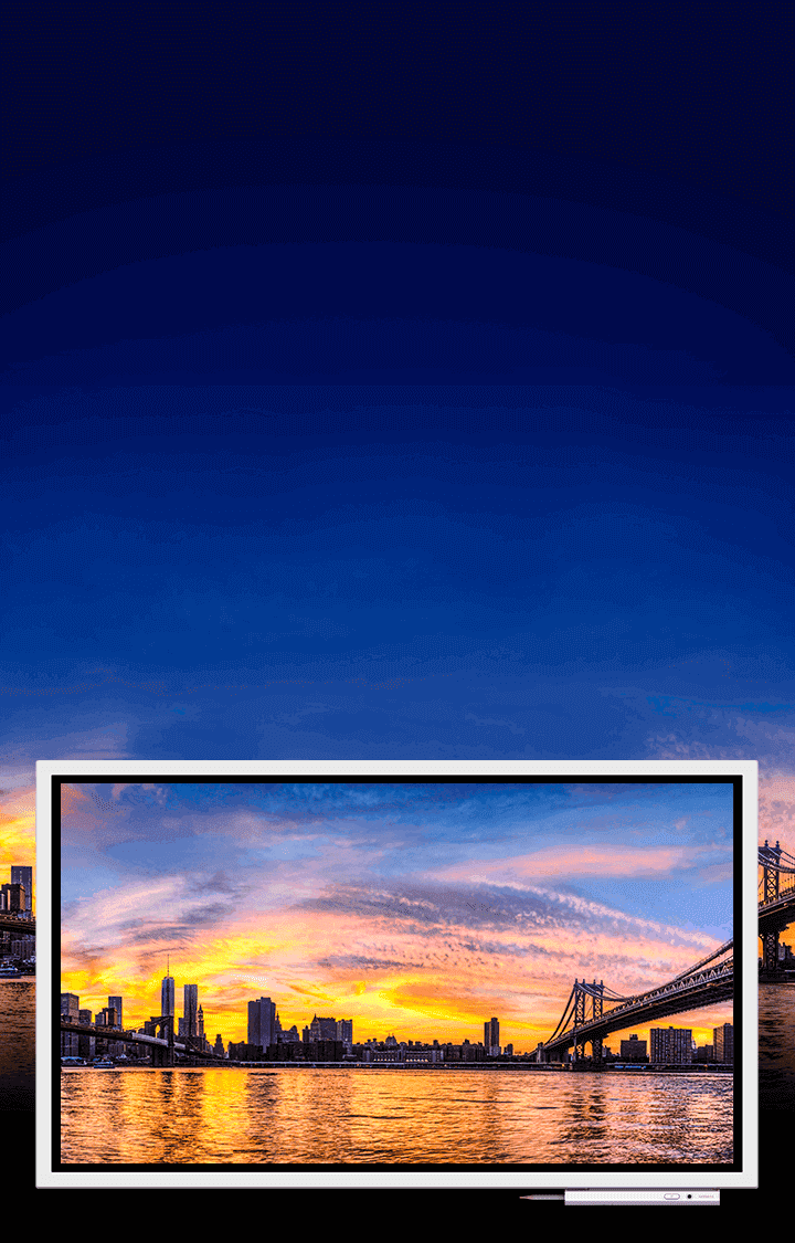 An Interactive Digital Flipboard Designed For Creative Thinking Samsung Usb Cable Wiring Diagram Free About And Image Showing A City Sunset Shown On Flip Device