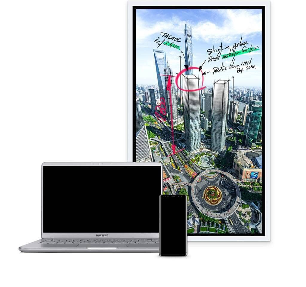 Flip Wm55h Smart Signage Samsung Display Solutions 8 Channel Security Wiring Diagram The Relieves This Burdensome Process Save Conversations And Critical Content Within Displays Central Storage Easily Share With Your