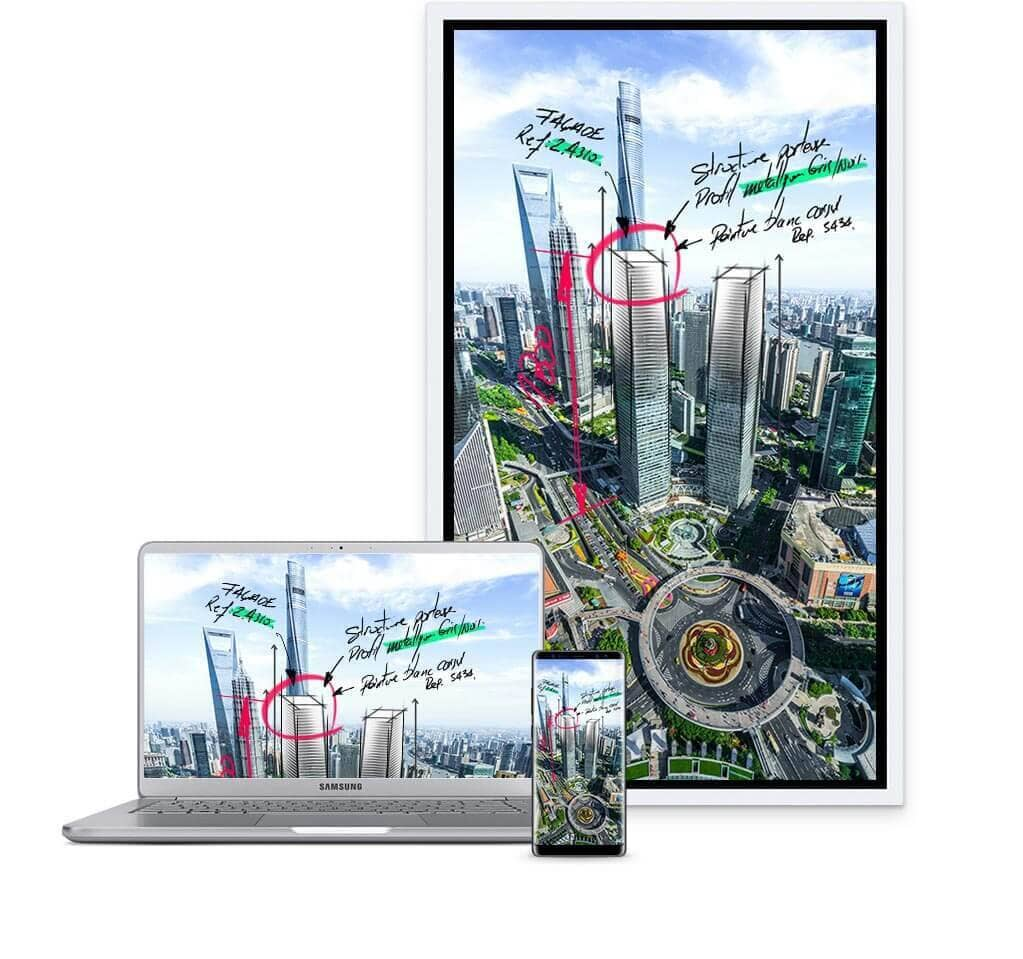 Flip Wm55h Smart Signage Samsung Display Solutions Wiring Diagram Very Best Hdmi Exle Ideas An Image Showing A Device Notebook And Smartphone Connectedall
