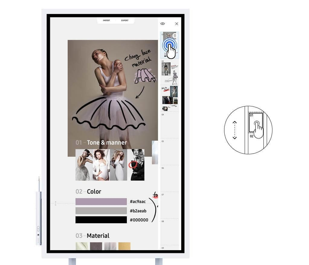 Flip Wm55h Smart Signage Samsung Display Solutions Wiring Diagram Very Best Hdmi Exle Ideas A Video Image Showing How Users Can Select Menu On Device And Navigate To Another Page Using The Navigation
