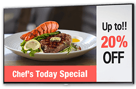 Chef's Today Special / Up to!! 20% OFF