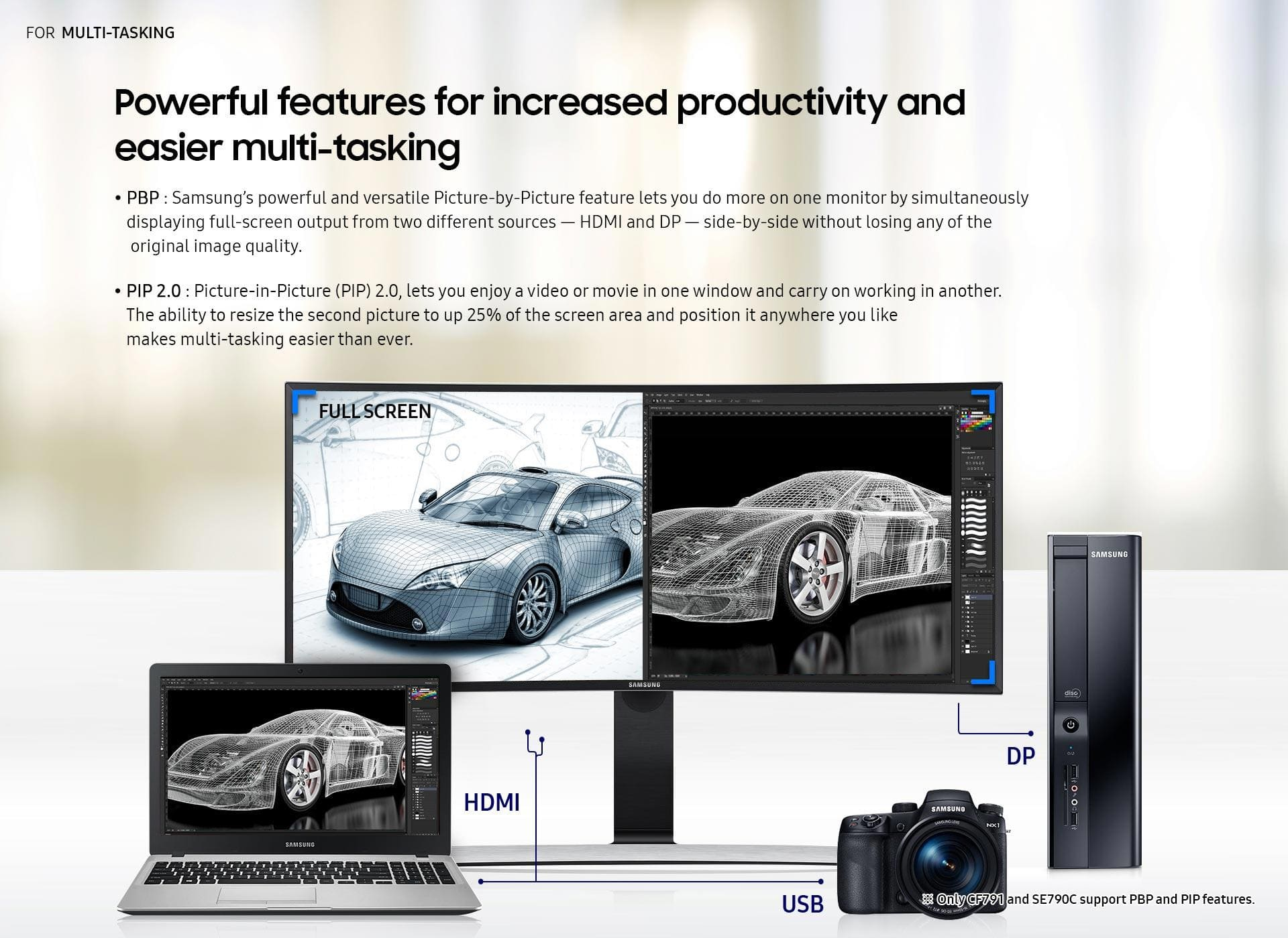 Powerful features for increased productivity and easier multi-tasking