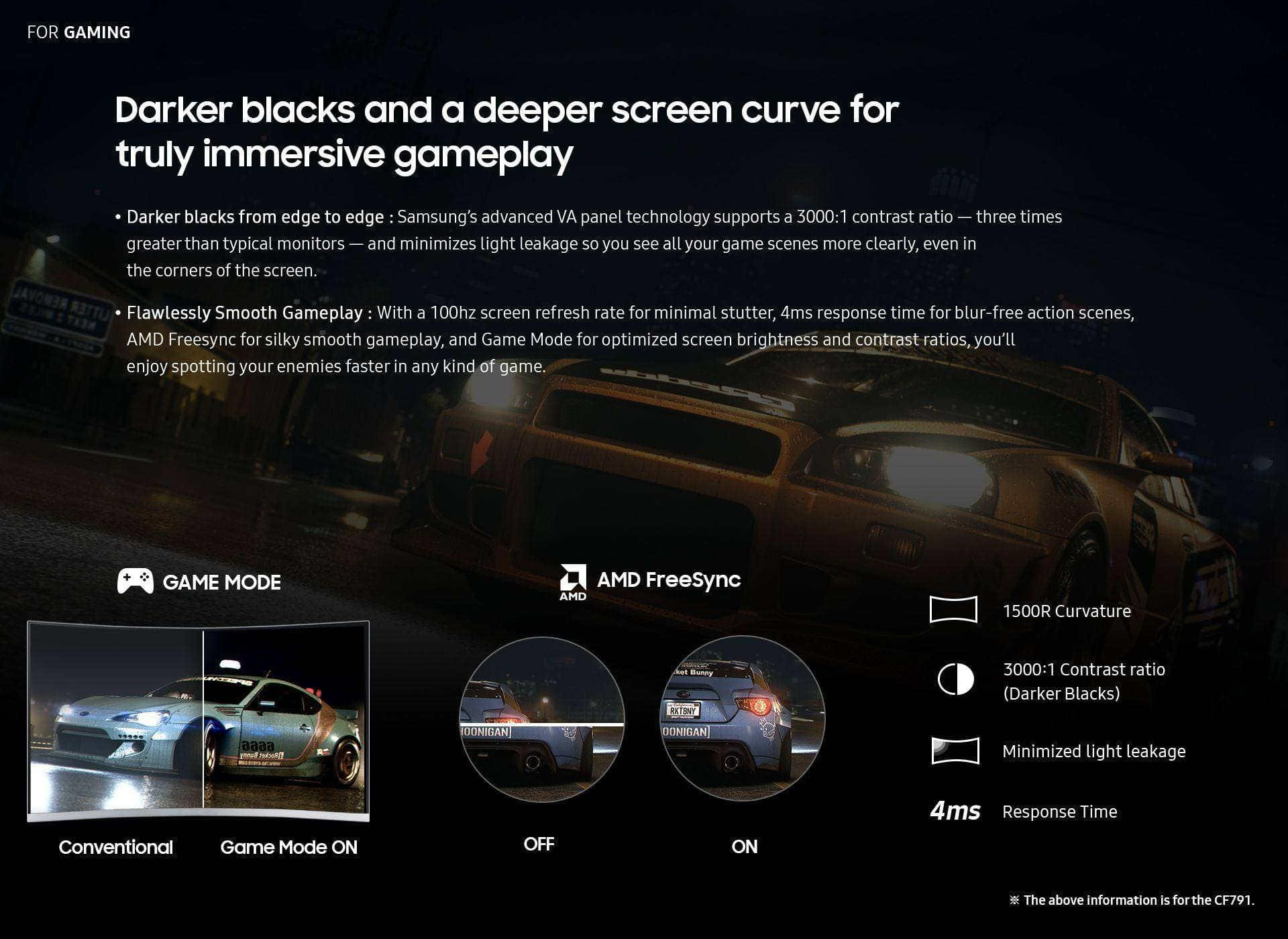Real Curve. Real Immersion.-Darker blacks and a deeper screen curve for truly immersive gameplay