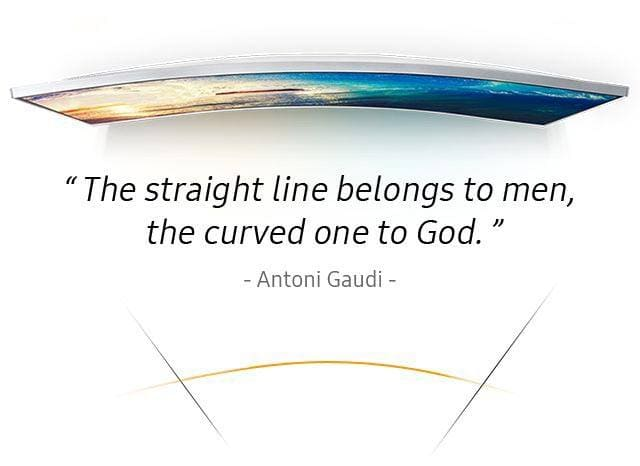 Antoni Gaudi says that the straight line belongs to men, the curved one to God.