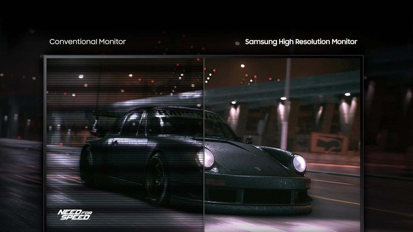 This image is a better description of the flashing technology and compares the vehicles on the monitor.