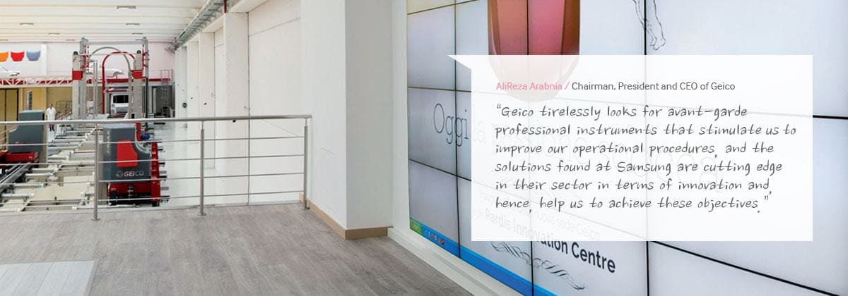 Geico Success Stories Samsung Display Solutions